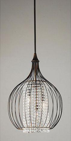 Copper/Crystal Pendant Chandelier eclectic chandeliers