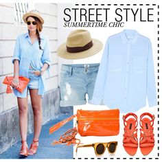 """""""Street Style-Summertime Chic"""" by kusja on Polyvore"""