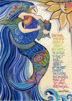 """Divine Spark:  """"Close your eyes and #dream a dream and seek the #courage to make it real. Reflect on the past, envision the future and embrace today with an open heart and soul.""""  ---Laurel Burch."""