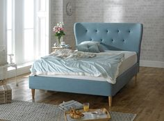 Isabella Fabric Bed - Duck Egg Blue — Matalan Direct