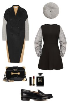 """""""Untitled #53"""" by peterpan130395 ❤ liked on Polyvore featuring Acne Studios, Prada, Manolo Blahnik, Gucci and Chanel"""