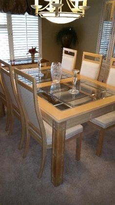 Found On Estatesales Stanley Dining Table W 8 Chairs 2 Endearing Stanley Dining Room Set Design Ideas