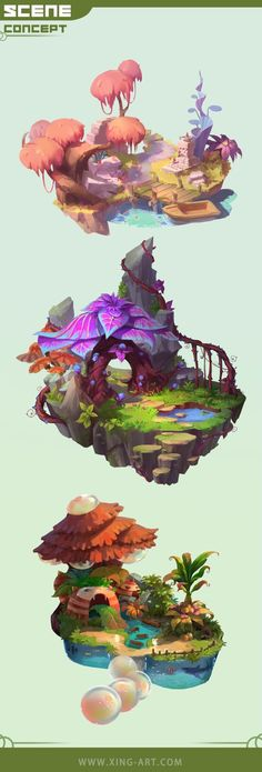 Arts And Crafts Target Product Fantasy Concept Art, Game Concept Art, Fantasy Art, Environment Concept Art, Environment Design, Game Environment, Star Academy, 2d Game Art, Isometric Art