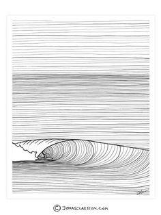 Groundswell Black & White Art Print