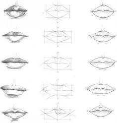 lips, art, and drawing -kuva
