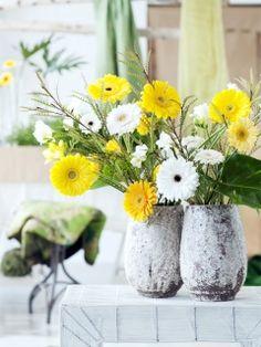 Weiß und gelb in Kombination - mit der #Gerbera kein Problem #twbm #flowers #blumen