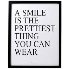 A Smile is… Black Framed Wall Art (2.220 RUB) ❤ liked on Polyvore featuring home, home decor, wall art, black home decor, black framed wall art, quote wall art, typography wall art and framed wall art