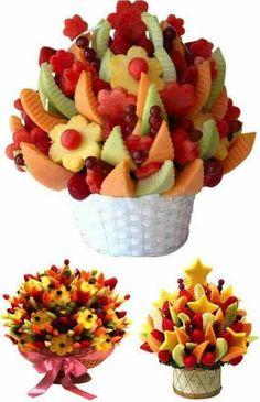 Assortiment de fruits en bouquet