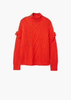 Jersey ochos flecos - Mujer | MANGO España 30€