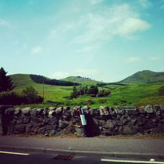 Sunshine hitting the Pentland Hill's - beautifully green! Taken by Nicola Hancock