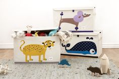Toy Chests-Leopard Poodle Whale