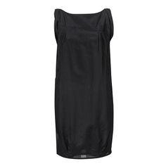 Sleeveless Boat Dress Black Cotton Silk ATELIERAMSTRDM 2015
