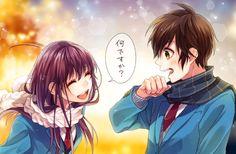 Mochita and Akari Koi, Digital Art Anime, Anime Art, Vocaloid, Zutto Mae Kara, Kuzu No Honkai, Honey Works, Fanart, Anime Best Friends