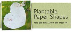 Plantable paper shapes!