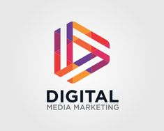 Digital Letter D Logo design - colorful letter D, it can be the symbol of your business in : media, advertising, marketing,communication,creative agency, application, games, ecc Price $199.00