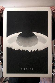 Neo Tokyo - Screen Print / justinvg #grafica #poster #vintage #illustrazione #giappone