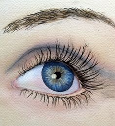 EYE Eye Watercolor Eye Looking left study