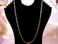 """SEXY MEN'S/WOMEN'S 24K GOLD PLATED FIGARO 4MM - 24"""" CHAIN NECKLACE #Unbranded…"""