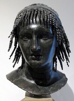 Roman Bronze Bust of Ptolemy Apion, King of CyreneFrom the Villa of the Papyri, HerculaneumPtolemy Apion or simply known as Apion (between 150 BC & 145 BC - 96 BC) was the last Greek Cyrenaean King and was a member of the Ptolemaic dynasty. Ptolemy was Greek and native Egyptian in descent. His second name Apion is a name of ancient Egyptian origin and could be a name from his maternal ancestry.The Villa of the Papyri is a private house in the ancient Roman city of Herculaneum. Situated n...