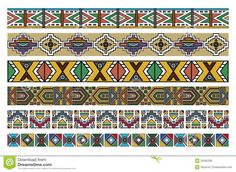Illustration about Vector art of various Ndebele African patterns borders artwork. Illustration of ndebele, border, illustration - 25562330 Border Pattern, Pattern Art, Art Patterns, Geometric Patterns, African Art Projects, African Wood Carvings, African Theme, Painted Sticks, Stock Foto