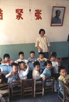 Kindergarten Beijing, 1973 © Bruno Barbey - Beaugeste Gallery