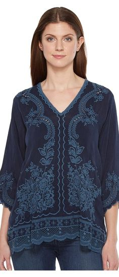 Johnny Was Embroidered Blouse (Deep Dawn) Women's Blouse - Johnny Was, Embroidered Blouse, C90662-2-408, Apparel Top Blouse, Blouse, Top, Apparel, Clothes Clothing, Gift, - Street Fashion And Style Ideas