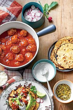 Quick Ground Beef Recipes: Tex-Mex Meatballs in Red Chile Sauce