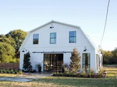 Love! Chip and Joanna Gaines renovated this old horse barn into an unbelievably beautiful home.
