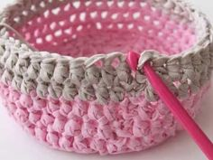 How to Make a Crochet Basket - YouTube
