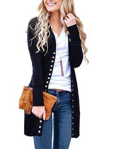 ColourfulWomen Mini Pocketed Denim Lapel Long-Sleeve Buttons Outwear Jacket