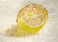 Learn How to Paint A Lemon