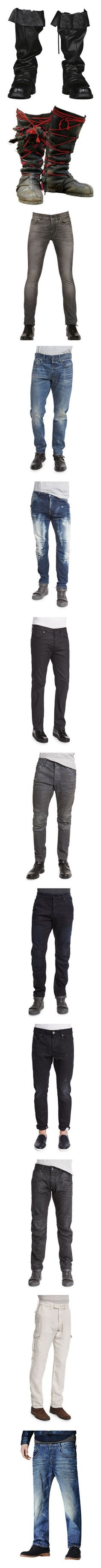 """""""Male Doll Pants"""" by kbarkstyle ❤ liked on Polyvore featuring shoes, pirate, boots, doll men, dolls, men's fashion, men's clothing, men's jeans, dk aged restored and mens distressed jeans"""