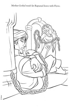 A beautiful coloring page of Flynn Ryder, the hero who
