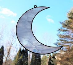 Item 269 Stained Glass Crescent Moon in by SarahBrueckWilliams