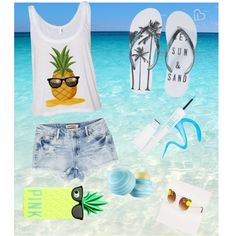Beach outfit★ by mariselaz on Polyvore featuring polyvore fashion style Aéropostale Eos