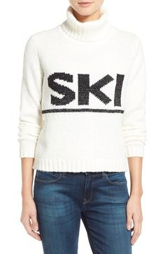 Press 'Ski' Graphic Turtleneck available at #Nordstrom