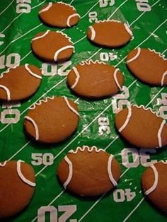Football cookies - You can pair this fun dessert with our #Superbowl Box, on plated.com NOW!