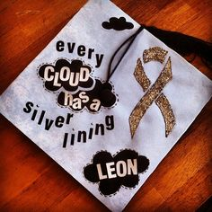 Pin for Later: 61 Creative Ways to Decorate Your Graduation Cap  Stay positive!