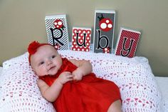 red polkadot baby decoration - Google Search