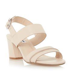 DUNE LADIES JORO - Two Part Block Heel Sandal - nude | Dune Shoes Online
