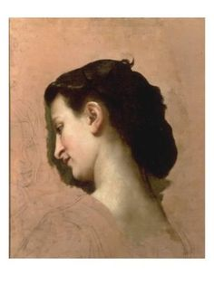 Sketch of a Young Girl's Head Giclee Print by William Adolphe Bouguereau at Art.com