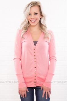 183ee33f56a76 The Story Of Us Button Up Cardigan In Pink Filly Flair, Cute Cardigans,  Online