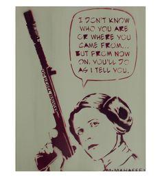 STAR WARS Art Princess Leia 11 x 14 Disney Princess by MrMahaffey