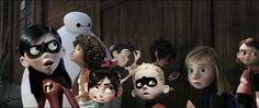 Violet: Everyone keep a look out, he could be anywhere! Tip: How do I always get involved in these things? Wilbur: What do you mean it's locked!? Hiro: I don't understand, it's never been locked before! Vanellope: It's amazing you guys have survived this long... Violet, Tip, Baymax, Vanellope, Wilbur, Dash, Hiro, Riley, Penny, Bolt