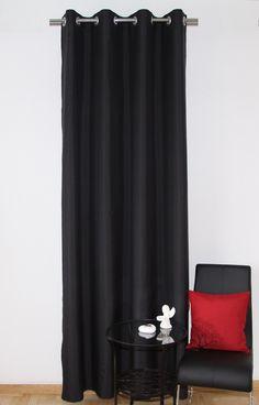 Dekoracyjna zasłona do sypialni w kolorze czarnym
