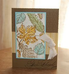 Stampin' Up! Gently Falling | Planetmarce Design