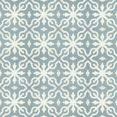 »Zementfliese Serie CASTILLO Dekorfliese 5 blaugrau/weiß« von Replicata - 200 x 200 x 20 mm - Replikate