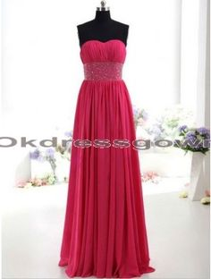 Sweet Heart Junior Elegant Chiffon Fuchsia prom dress with Ruffles