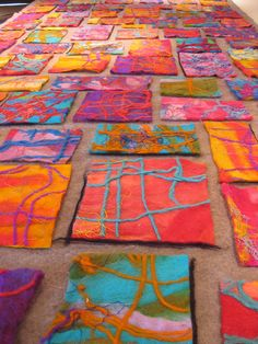 fiber art more felting designs that would work on a bag