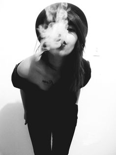Black, Smoke, Girl.